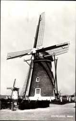 Postcard Zoutelande Zeeland Niederlande, Blick auf eine Windmühle, Molen