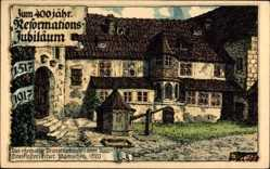 Künstler Litho Kallista, 400 jähriges Ref. Jubiläum, Prioratsgebäude, Erfurt
