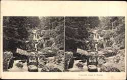 Stereo Ak Cascade dans le Hartz, Wasserfall im Harz