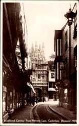 Postcard Canterbury South East England, Christchurch Gateway from Mercery Lane