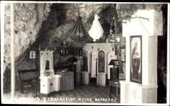 Foto Ak Griechenland, Kapelle in der Kirche St. Barbara, Innenansicht