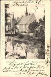 Ak Sobótka Zobten Schlesien, Zobtengebirge, Blick auf das Schloss Gorkau