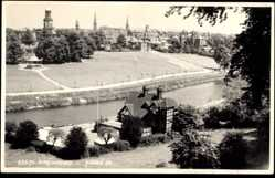 Postcard Shrewsbury West Midlands England, Blick auf den Ort, Pavillon, Judges 23675