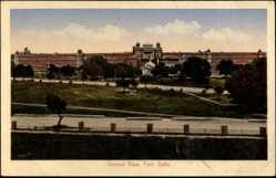 Postcard Delhi Indien, General View of the Fort, Blick auf die Festung