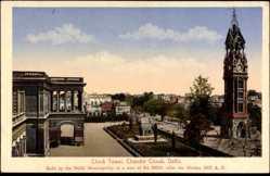 Postcard Delhi Indien, Clock Tower, Chandni Chouk, Glockenturm, Gebäude