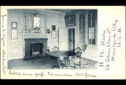 Postcard Mount Vernon Viriginia USA, Washington's House, Library, Massachusetts room