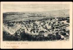 Postcard Bethany Jerusalem Israel, Blick auf den Ort mit umliegender Landschaft