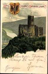 Künstler Litho Biese, C., Bernkastel Kues, Burg Landshut