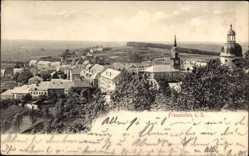 Postcard Frauenstein im Erzgebirge, Gesamtansicht mit Stadtkirche