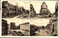 Ak Zabrze Hindenburg Schlesien, Bahnhofsplatz, Admiralspalast, Peter Paul Platz