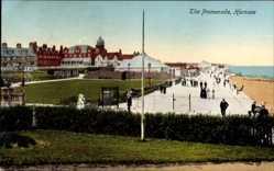 Postcard Hornsea Yorkshire England, The Promenade, Strandpromenade