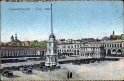 Postcard Konstantinopel Istanbul Türkei, Top hané, Pferdekarren im Hof