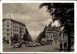 Postcard Hamburg Mitte St. Georg, Blick in den Steindamm und Große Allee