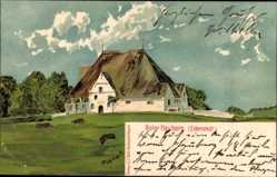 Künstler Litho Planert, Halbinsel Eiderstedt Nordfriesland, Roter Hauberg