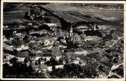 Postcard Ohrdruf im Thüringischen Kreis Gotha, Fliegeraufnahme, Kirche