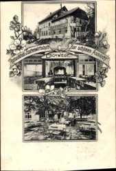 Postcard Eschwege im Werra Meißner Kreis, Restauration Zur schönen Aussicht