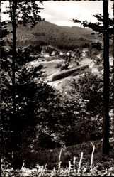 Postcard Nordenau Schmallenberg im Hochsauerland, Blick auf die Ortschaft, Wald, Berg