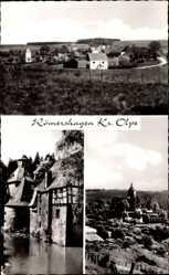 Postcard Römershagen Wenden im Sauerland, Gasthof Heinrich Wurm, Turm, Dorf
