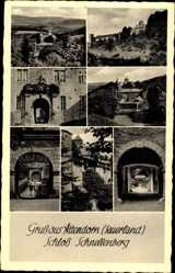 Postcard Attendorn Sauerland, Ansichten vom Schloss Schnellenberg, Portal