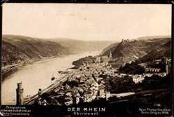 Ak Oberwesel im Rhein Hunsrück Kreis, Stadt mit Rhein, NPG