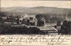 Postcard Wilhelmsthal Eckardtshausen Marksuhl, Blick auf das Schloss, Häuser