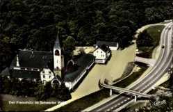 Postcard Schwerte im Ruhrgebiet Kreis Unna, Fliegeraufnahme, Freischütz