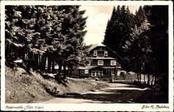 Postcard Katzhütte Oelze im Schwarzatal Thüringen, Blick auf die Massermühle