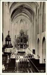 Postcard Malmö Schweden, Inertiör av St. Petri Kyrka, Innenansicht der Kirche