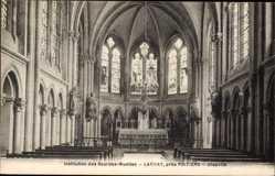Postcard Larnay Vienne, Institution des Sourdes Muettes, Chapelle, Altar