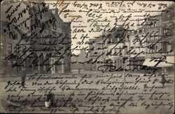 Postcard Esch an der Alzette Luxemburg, Norbert Metz Platz, Gebäude