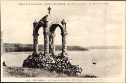 Postcard St. Suliac Ille et Vilaine, La Vierge de Grinfollet, Jungfrauenstatue