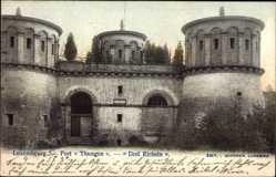 Postcard Luxemburg, Fort Thungen, Drei Eicheln, Festungstürme