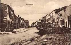 Postcard Aprémont la Forêt Meuse, Kriegszerstörungen im Ort