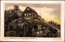 Ak Szklarska Poręba Schreiberhau Riesengebirge Schlesien, Hochstein, Isergebirge