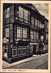 Postcard Hildesheim in Niedersachsen, Partie am Hotel Wiener Hof, Besitzer Roeder