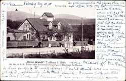 Postcard Torfhaus Altenau im Oberharz, Hotel Wendt, höchstgelegenes Gasthaus des Harz