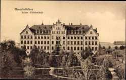 Postcard Neuendettelsau in Bayern, höhere Mädchenschule, Vorderansicht, Hof