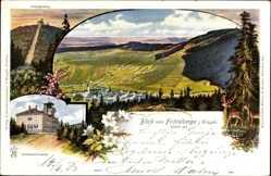 Postcard Oberwiesenthal im Erzgebirge Sachsen, Ort, Fichtelberg, Prinzenweg