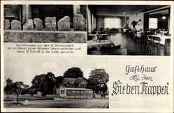 Postcard Weetzen Ronnenberg, Gasthaus zu den Sieben Trappen, Gerichtsstätte aus 14 Jhd