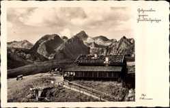 Postcard Berchtesgaden in Oberbayern, Gotzenalm, Hundstod Gruppe, Kuh