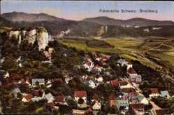Postcard Streitberg Wiesenthal Fränk. Schweiz, Teilansicht des Ortes mit Umgebung