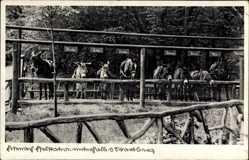 Postcard Eisenach, Eselstation unterhalb der Wartburg, Loreley, Moritz, Lotte