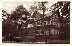 Postcard Schöppenstedt in Niedersachsen, Waldwirtschaft Tetzelstein, Inh. C. Böker