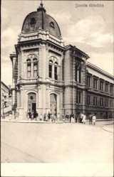 Postcard Rijeka Fiume Kroatien, Scuola cittadina, Schule