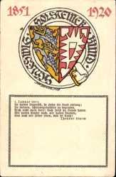 Wappen Ak Schleswig Holsteiner Bund, Gedicht von Theodor Storm, 1851 bis 1920