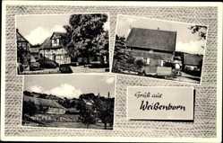 Postcard Weißenborn Gleichen Niedersachsen, Geschäft Luthing, Gasthaus Hoffmeister
