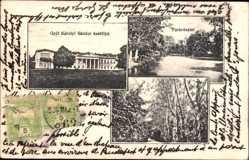 Postcard Fót Ungarn, Grof Karolyi Sandor kastelya, Parkreszlet, Schloss