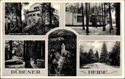 Postcard Bad Düben an der Mulde, Kreisjugendherberge, Lutherstein, Horst Wessel Bau