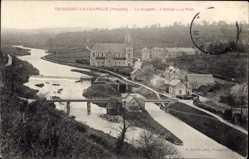 Postcard Troisgost la Chapelle Manche, La Chapelle, L'Ecluse, Le Pont