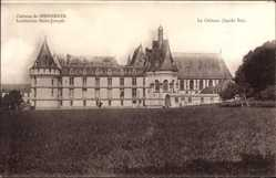 Postcard Mesnieres en Bray Seine Maritime, Château, Institution St. Joseph